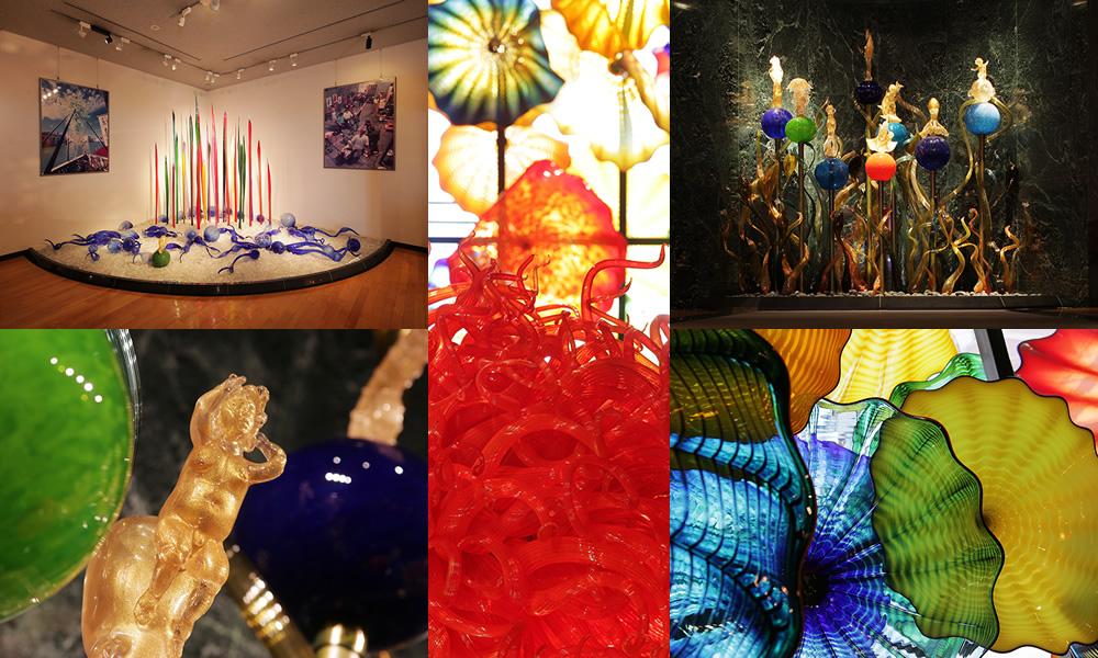 デイル・チフーリ、日本人芸術家の現代ガラス作品展